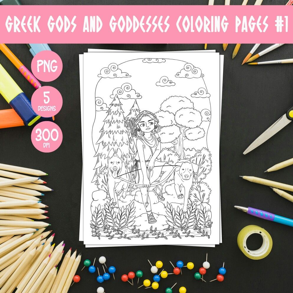 Printable Greek Gods And Goddesses Coloring Pages