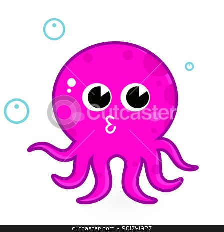 Cute Cartoon Sea Octopus cute baby octopus clipart cartoon