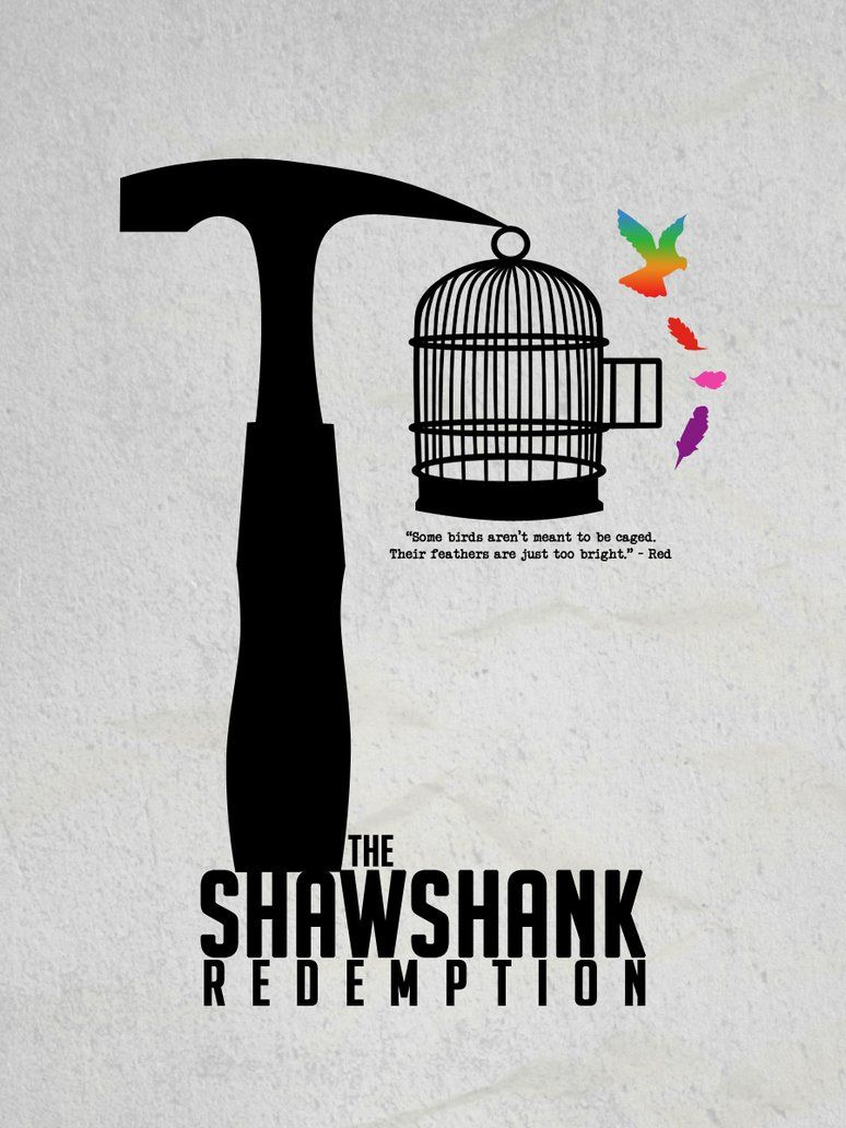 first upload in a while i m loving the mini st style of movie i m loving the mini st style of movie posters at the moment so i thought i d make one myself of one of my favourite movies the shawshank redemption