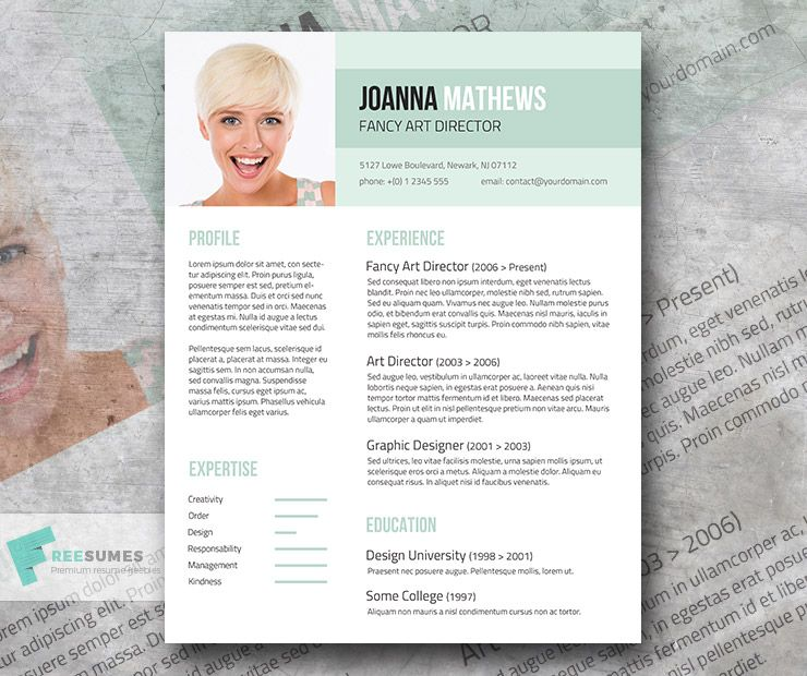 Trendy Resume Template Giveaway Sense and Style (With