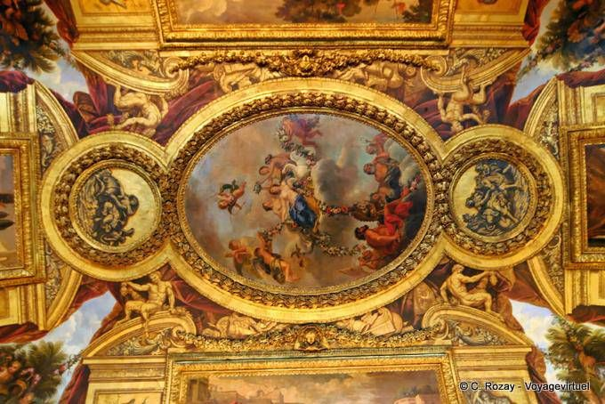CM4 / Plafond peint du Salon de Vénus, Versailles (avec images ...