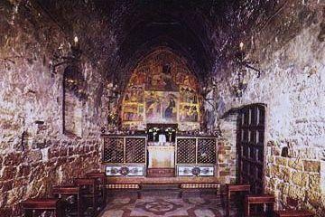 Intérieur de la chapelle de la Portioncule