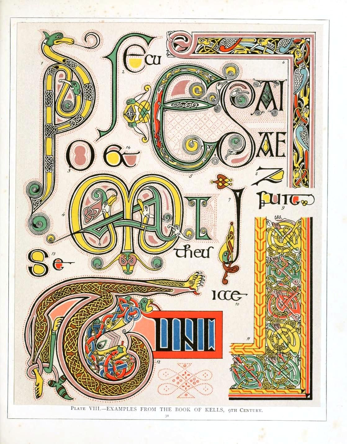From The Book Of Kells 9th Century Irish And Anglo