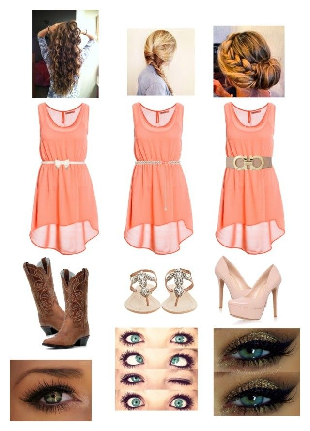 """""""Which would you wear??"""" by rejected-youth ❤ liked on Polyvore featuring River Island, Forever New, Salvatore Ferragamo, Antik Batik, Jessica Simpson and Occhi Verdi"""