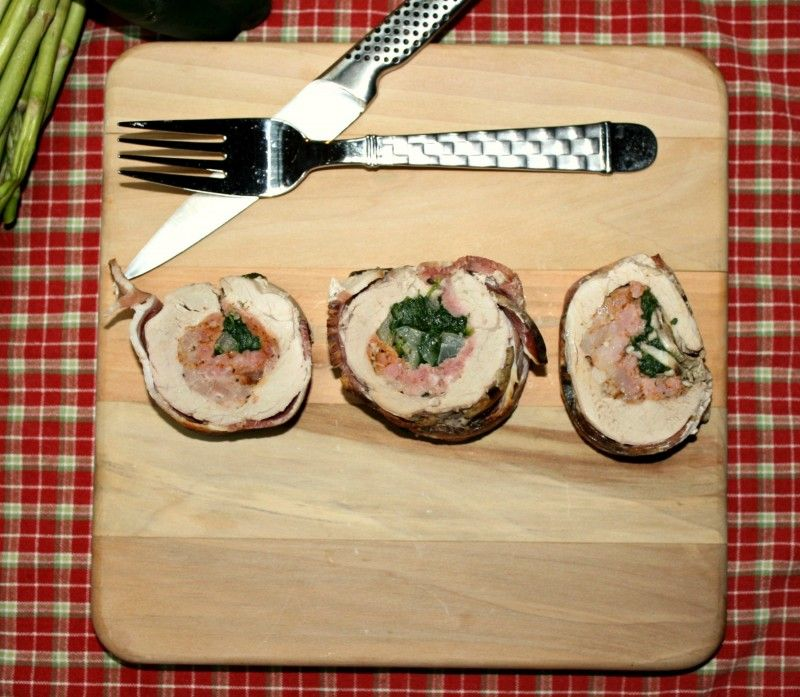 Pork Tenderloin Stuffed With Sausage And Spinach