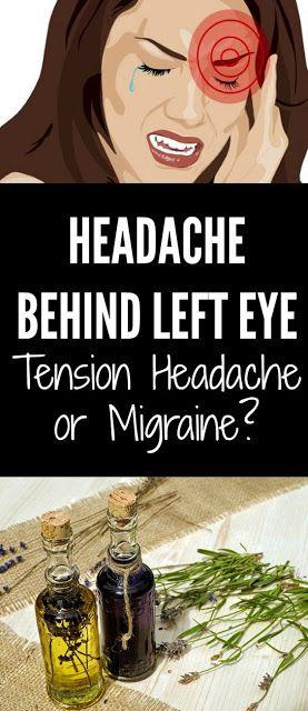 Headache Behind Left Eye - Tension Headache or Migraine ...