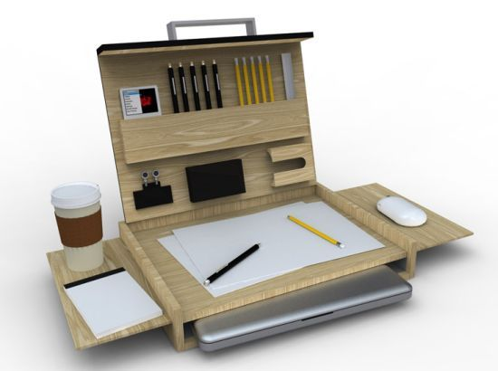 Lavoro: Mobile workstation to work on your MacBook on the go #furnitureredos