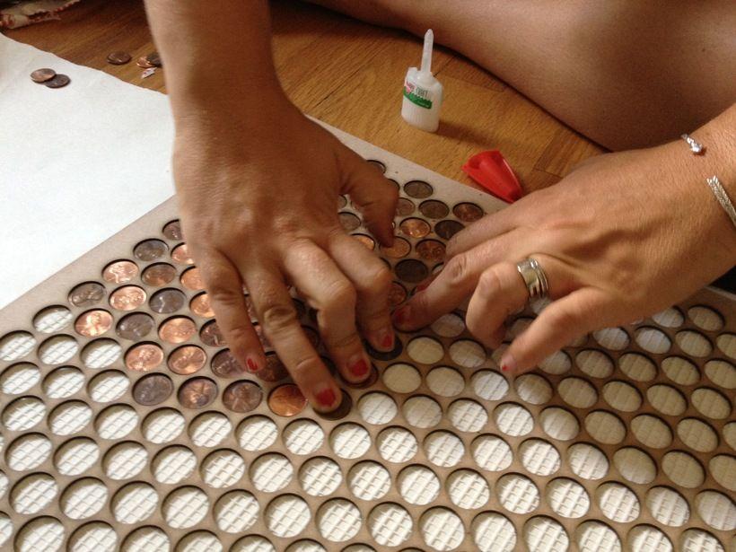 Copper Penny Tile Floor Google Search