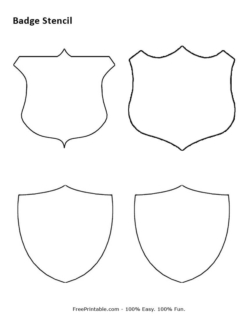Best photos of printable badge templates printable police