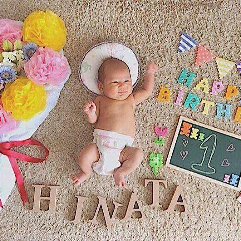1 ヶ月 写真 赤ちゃん