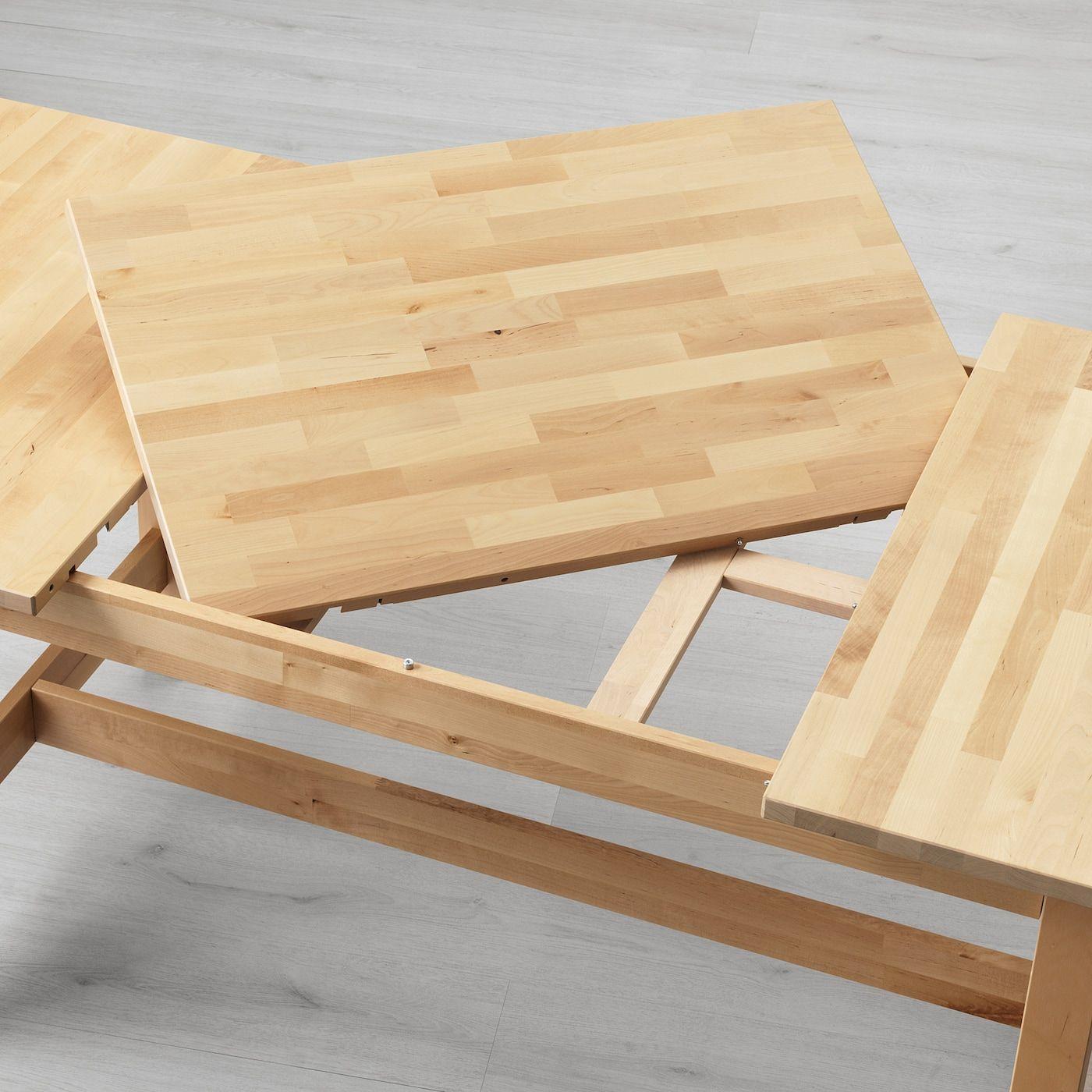 Norden Idolf Tisch Und 4 Stuhle Birke Schwarz Ikea Osterreich In 2020 Ikea Norden Tisch Ausziehtisch Und Ikea Tisch Norden