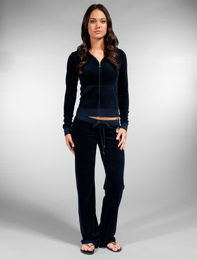 8a962a0f1d55 Juicy Couture Black Velour Tracksuit
