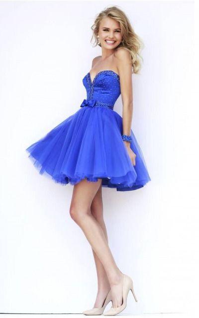 Sweetheart Sleeveless A-line Zipper Short Formal Dresses adbb2179