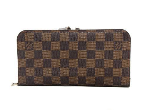 334809c119cf Authentic Louis Vuitton Damier Ebene Insolite long wallet N63071 ...