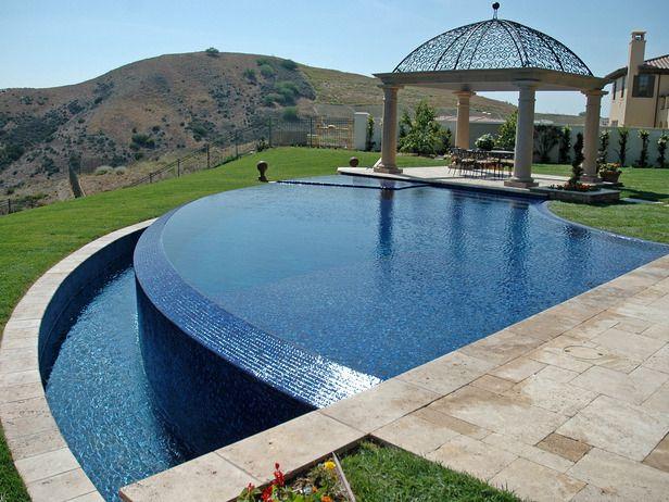 Tapered Edge Infinity Pool Designs   Pools   Pinterest   Pool ...