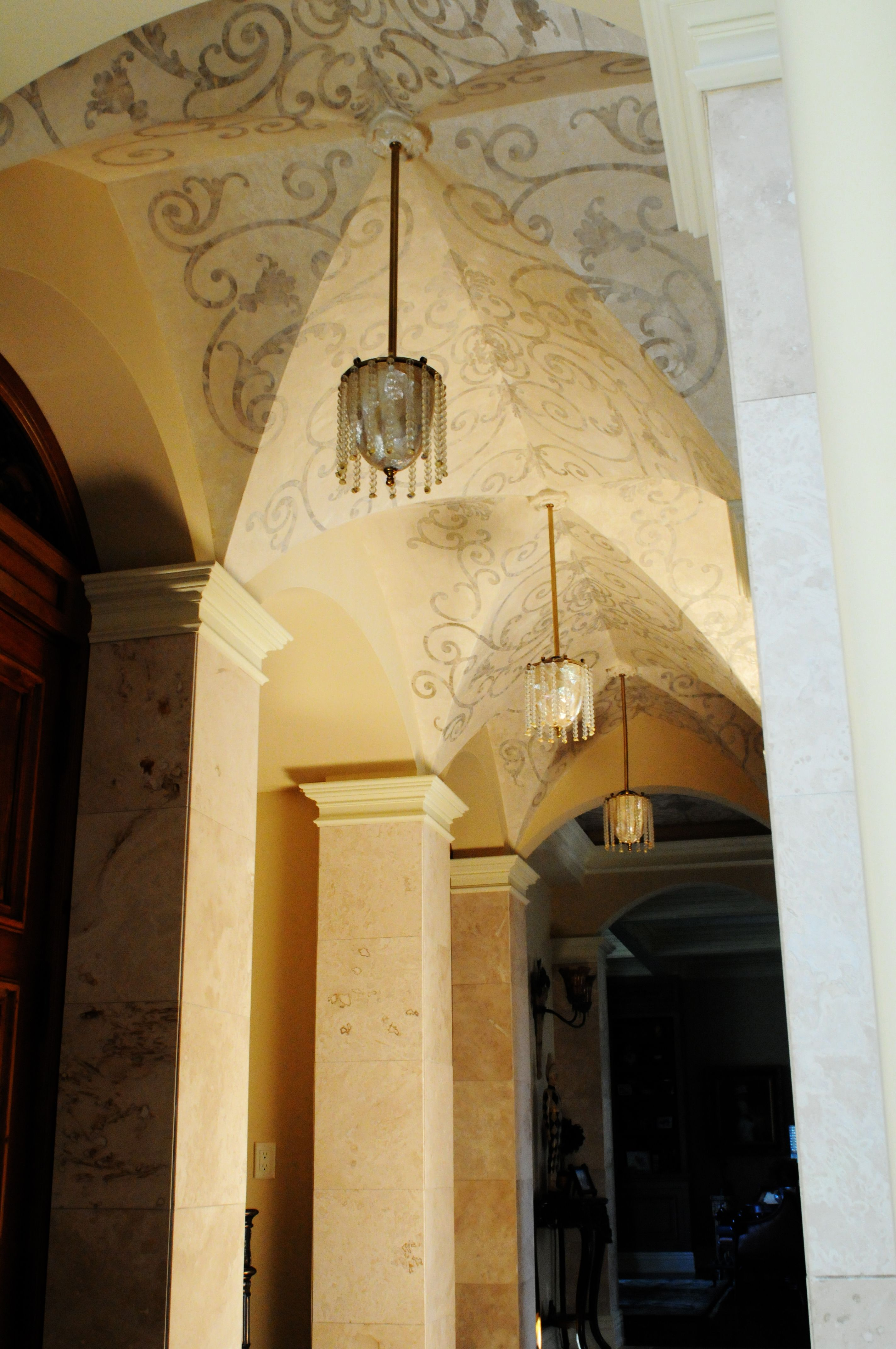 Hallway Ceiling. Multilayer Plaster. | Great Ceiling Ideas ...
