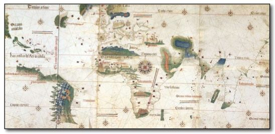 Vatican City On World Map.Cantino World Map Of 1502 Biblioteca Estense Modena Italy