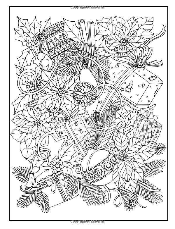 Alegre Navidad para colorear libro: Color de la temporada feliz y ...