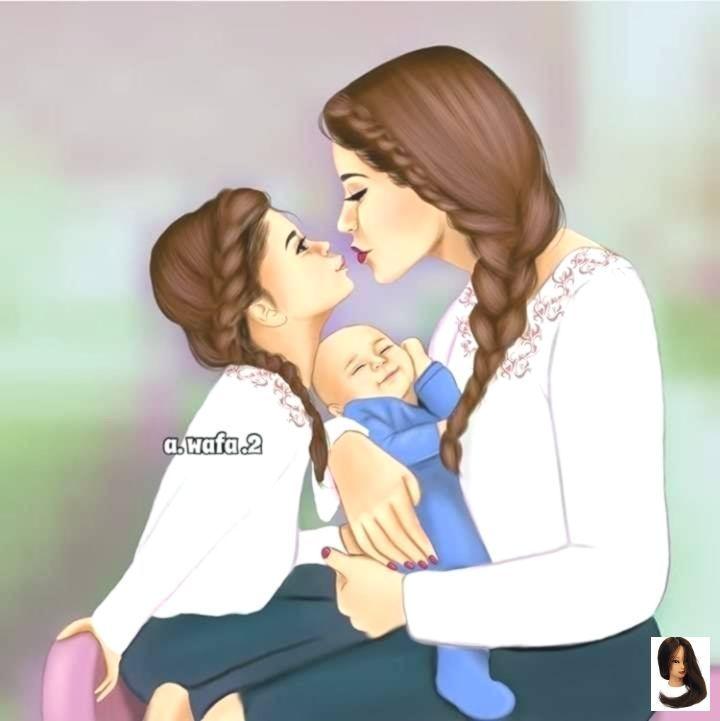 Pin By Tamara Ibanez On Girl Mother Daughter Art Mother And Daughter Drawing Drawing Pictures For Kids