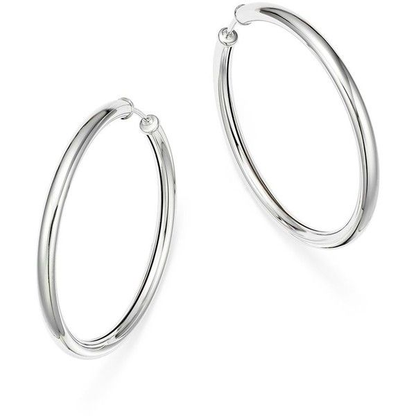 18K Gold over Sterling Silver 45mm Tube Drop Earrings ESioY