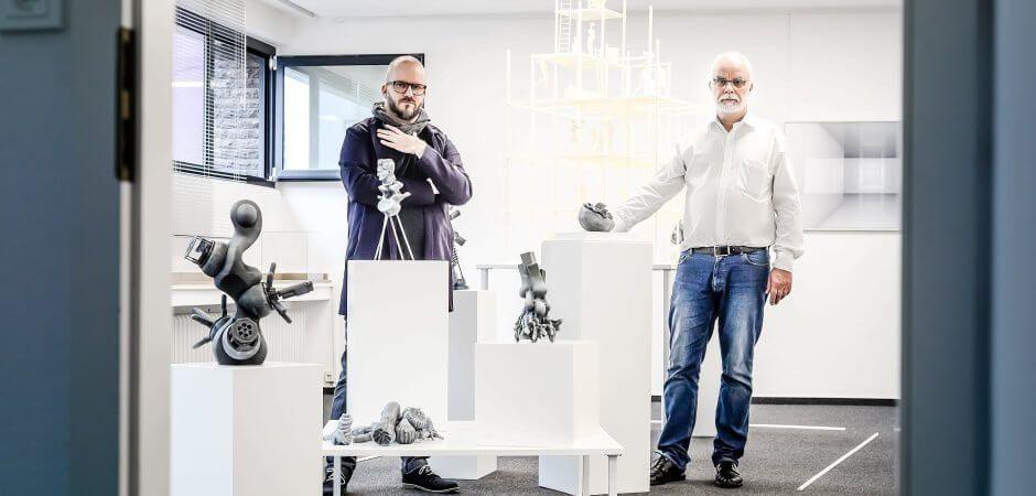 Die Werke von Matthias und Gisbert Danberg sind mit dem 3D