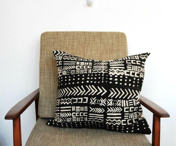 Bogolan Pillow Clap Des Mains Tous Creatifs African