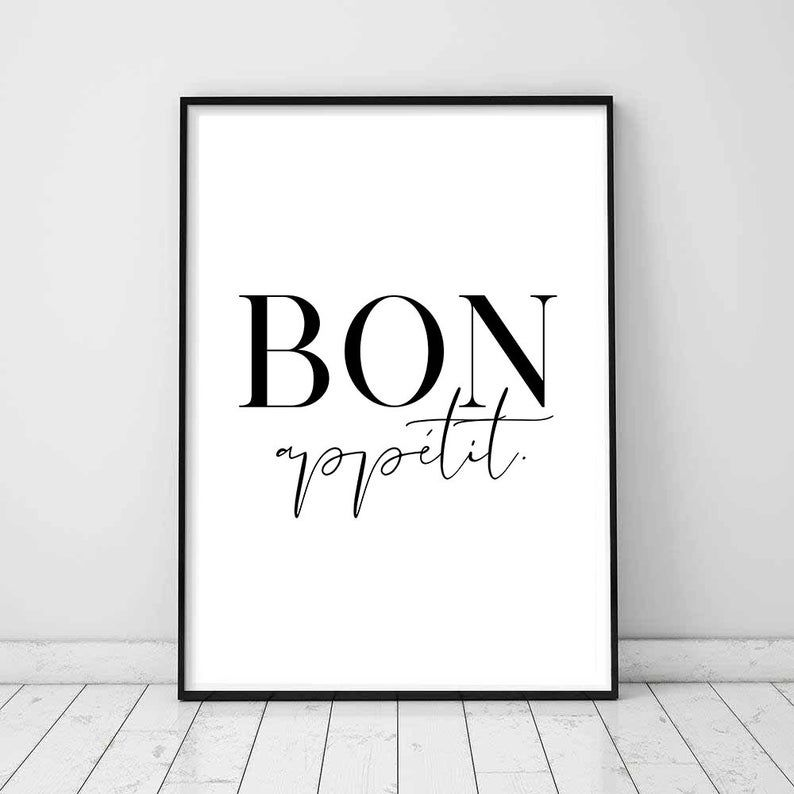 french sayings kitchen printable kitchen wall art bon appetit sign bon appetit wall art bon on kitchen quotes printable id=93676