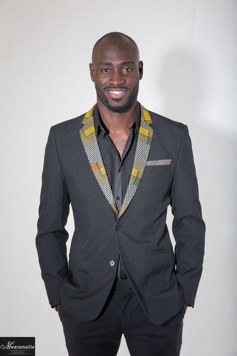 Veste en noir homme