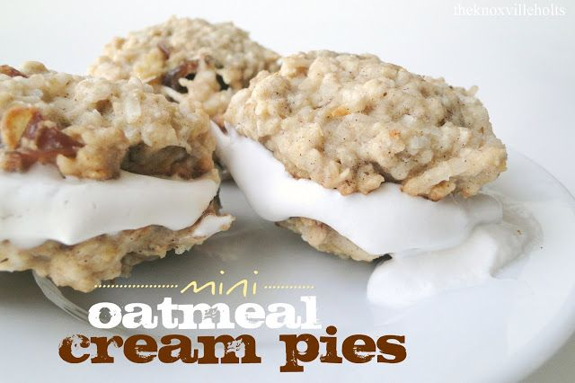 The Knoxville Holts: mini oatmeal cream pies {gf,v ...