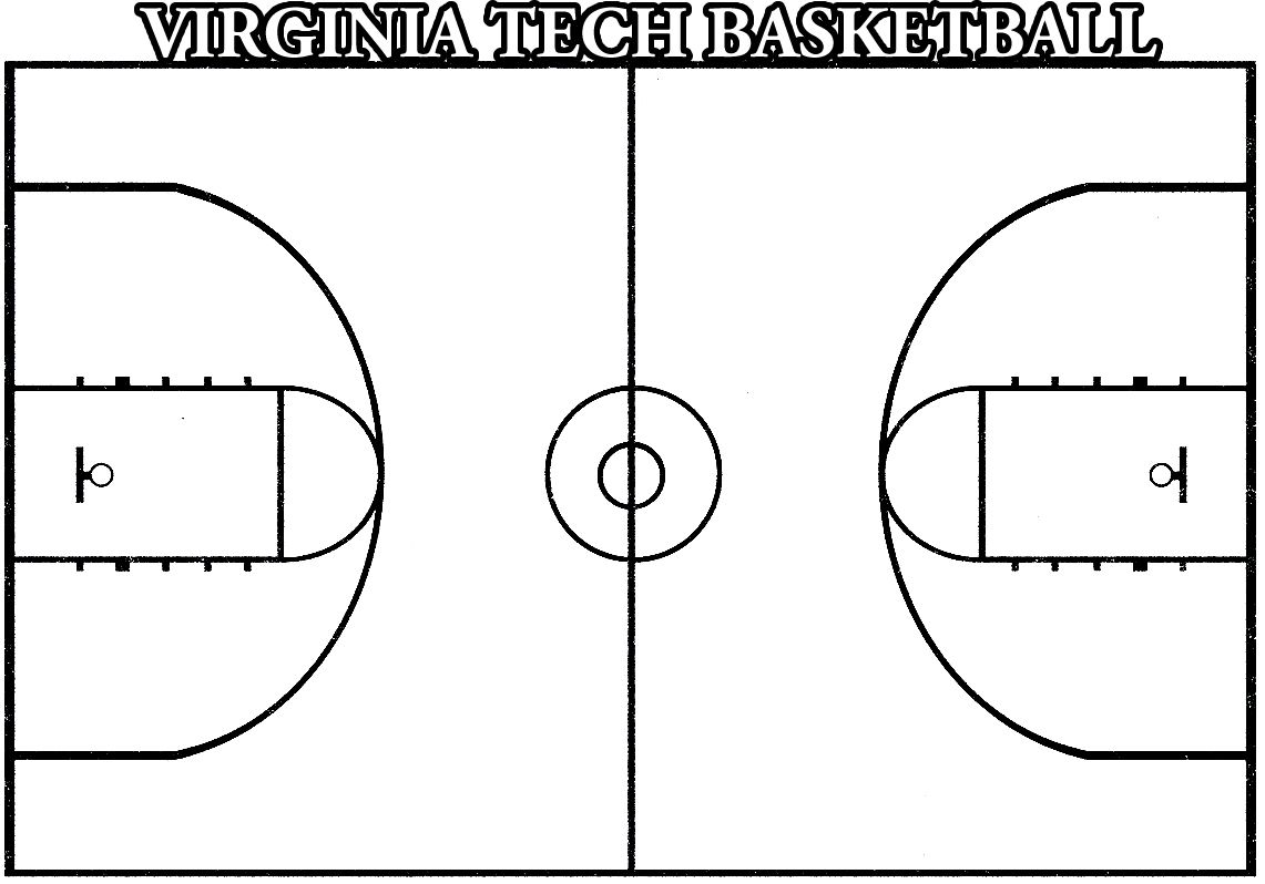 Basketball Court Coloring Pages Color Graphic