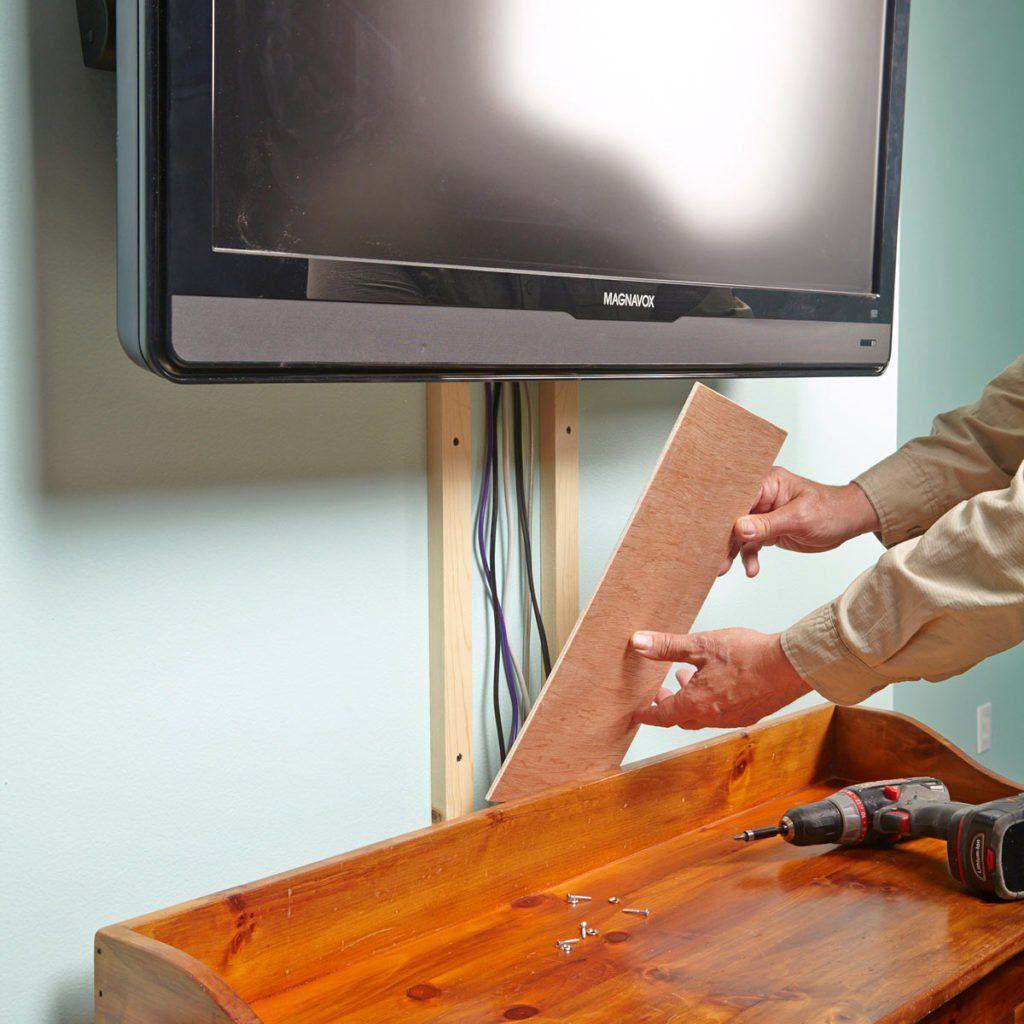 A simple way to hide hanging cords hide tv wires hide