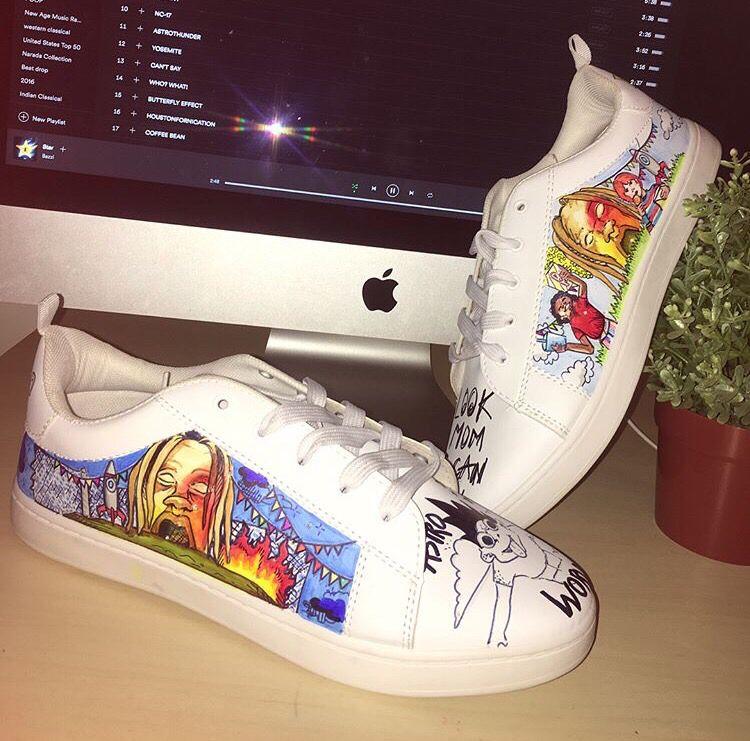 df578f56b87d7 Custom Astroworld Design. Cop or Drop? | Shoes in 2019 | Shoe art ...