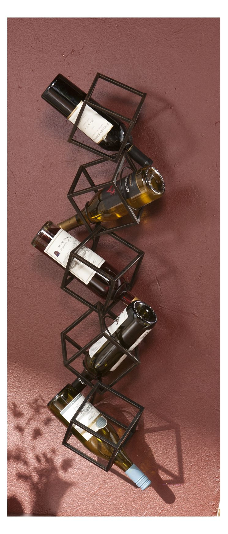 Carini 5 Bottle Wall Mounted Wine Rack Wine Rack Wall Wall Mounted Wine Rack Bottle Wall