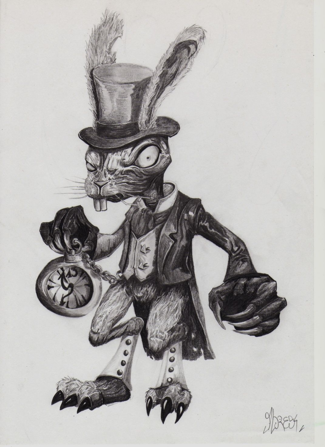 Alice's Evil Rabbit by Wax3212 | Kaninchen kunst - photo#37