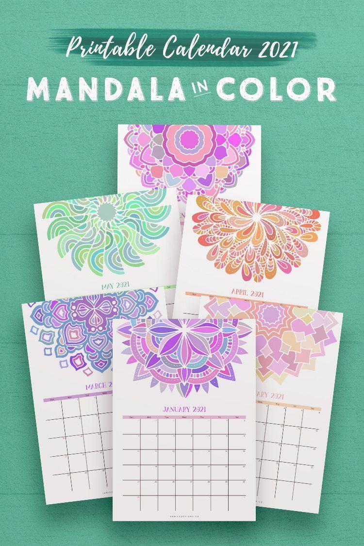 NEW 2021 Calendar: Mandala in Color* in 2020 | Coloring ...