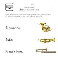 brass instruments worksheet | Differentiation Resources ...