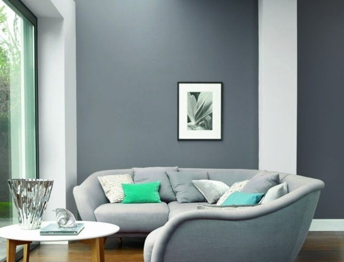 belle suggestion deco salon gris couleur peinture salon