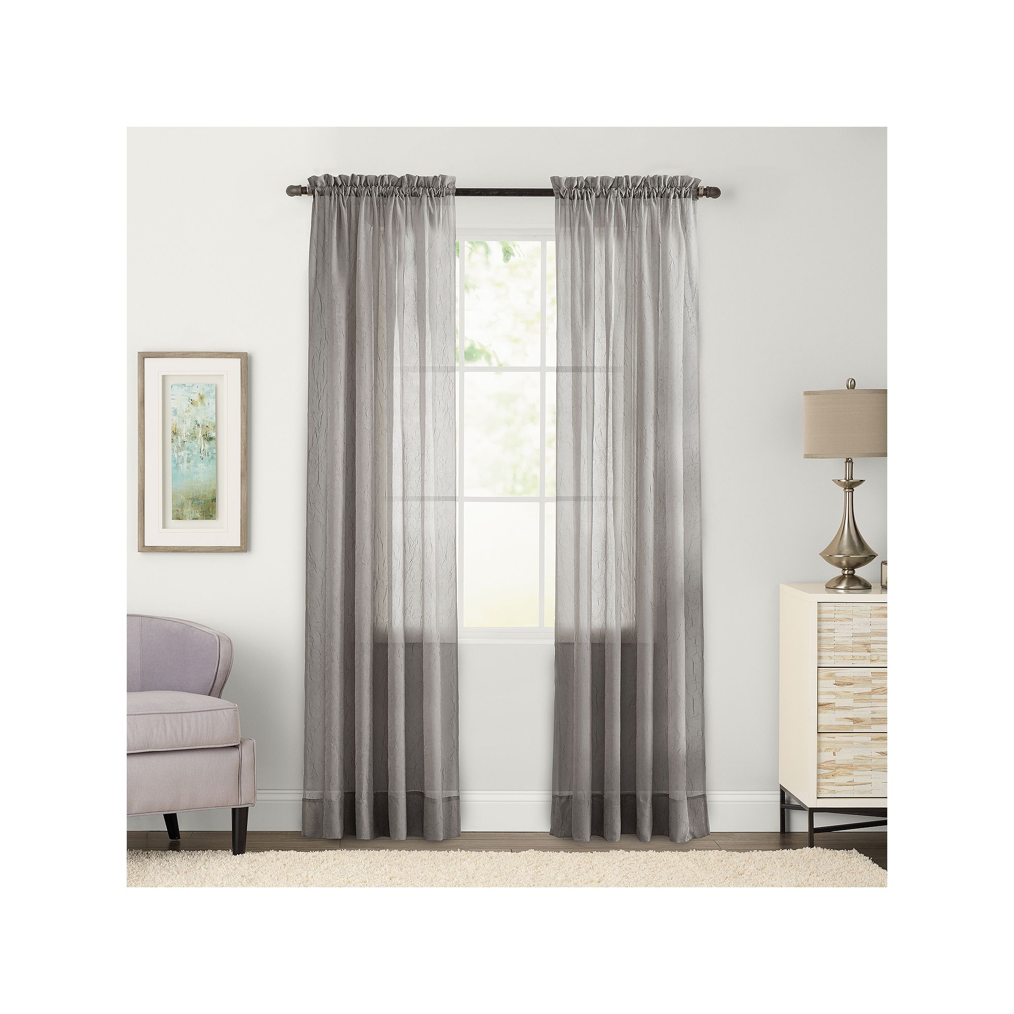 Sonoma Goods For Life 1 Panel Crushed Voile Sheer Window Curtain