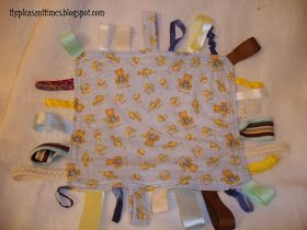 The Pleasant Times: Quick Sew Busy Baby Bitty Blanket Tutorial