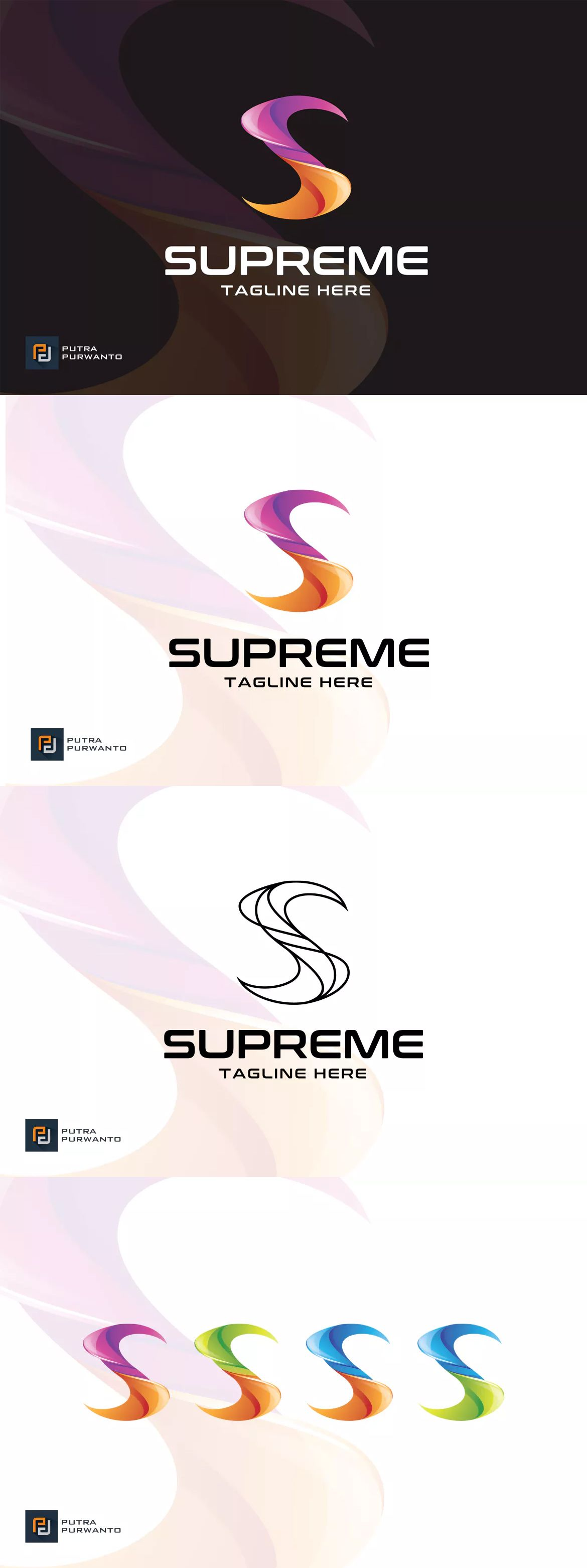 Supreme / Letter S Logo Template by putra_purwanto on