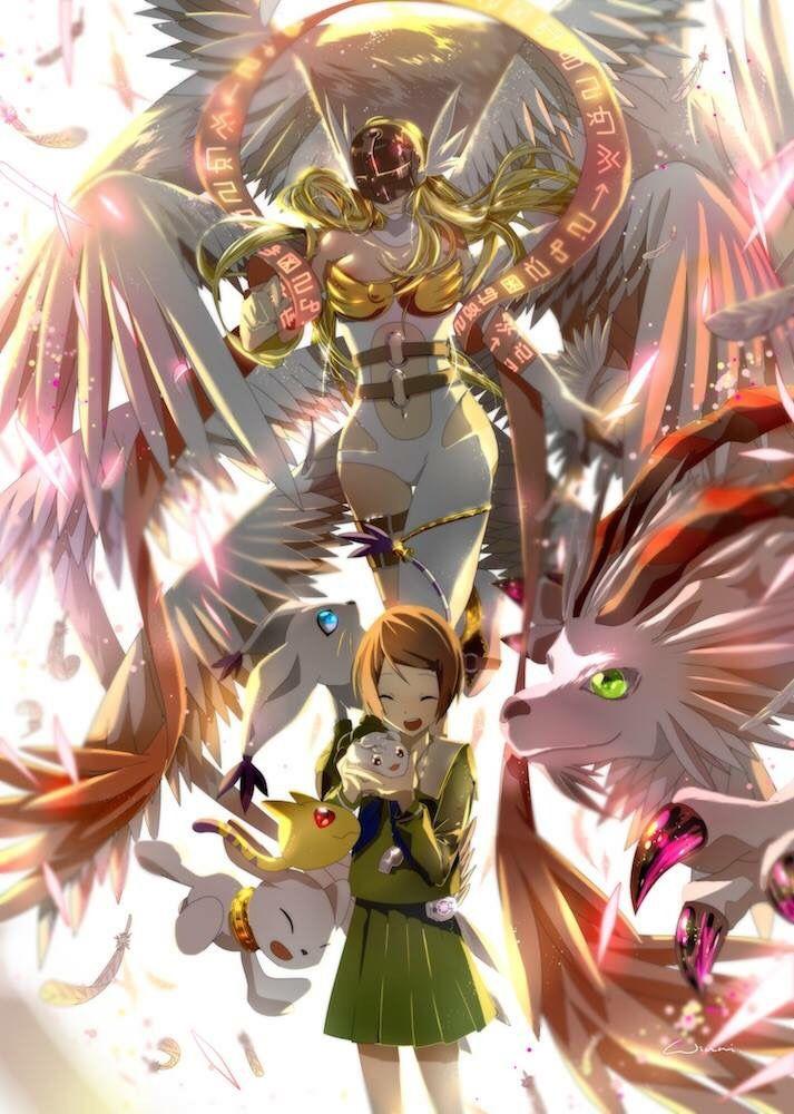 Digimon adventure tri hikari kari with gatomon 39 s for Cose belle da disegnare