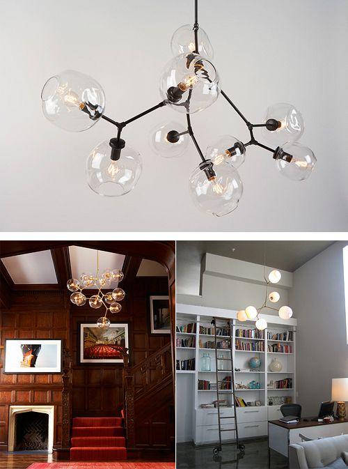 Organic Lighting By Lindsey Adelman Studio Bauldoff Exquisite Manhattan Hand Blown Glass Globes Branching