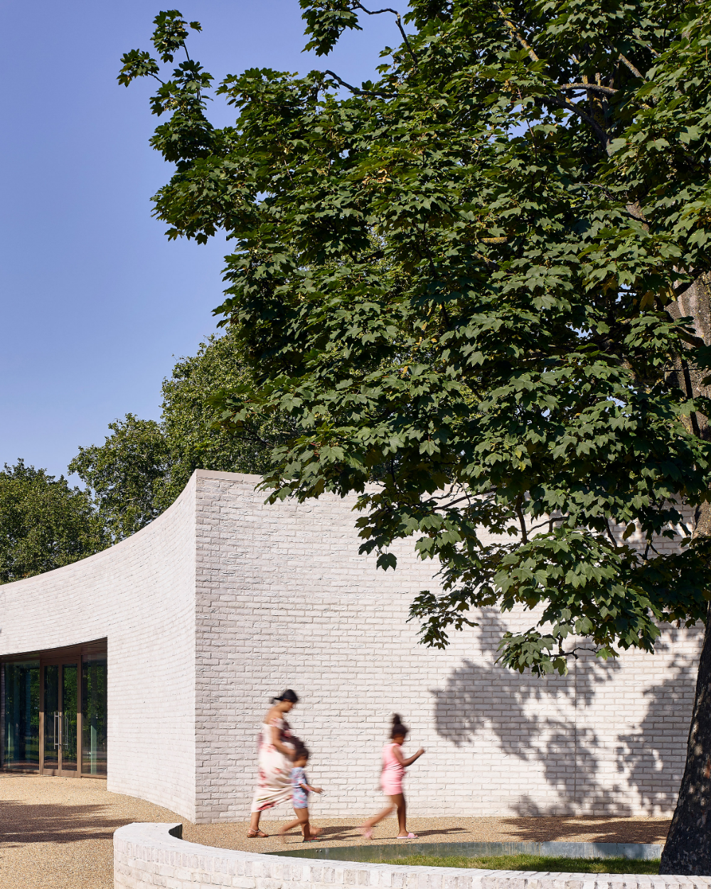 White Brick Baldwin Park S Design: Southwark Park Pavilion Features Curving Walls Of White