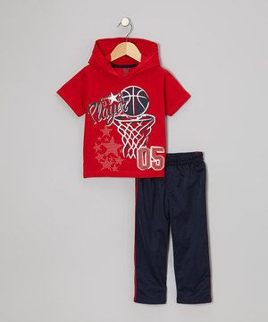 Look what I found on #zulily! Red 'Star' Hooded Tee & Track Pants - Toddler by Little Rebels #zulilyfinds