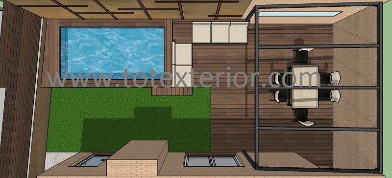 Proyectos - Diseño Terrazas Barcelona - TOTEXTERIOR piscina en