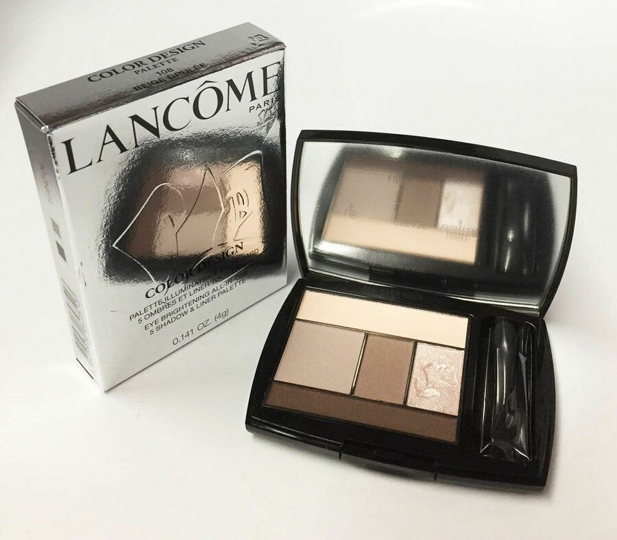 Lancome Color Design Eye Brightening All In One 5 Shadow 108 Beige Brulee Nib Ad Affiliate Eye Brightening Design Makeup Kit Travel Size Products
