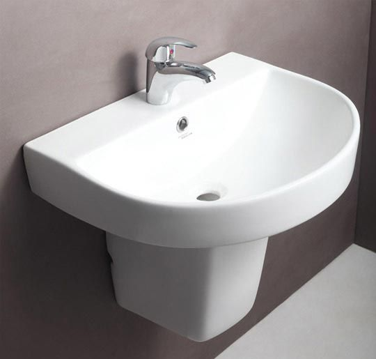 Buy hindware cedar pedestal basin 91049 in washbasins for Bathroom designs hindware