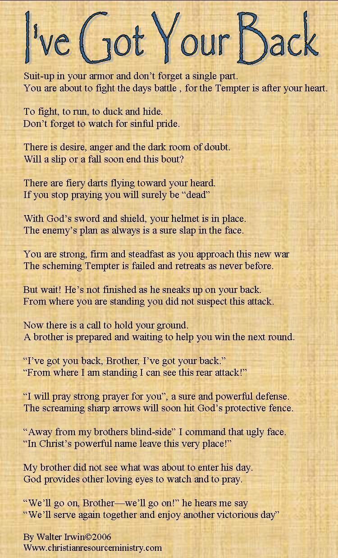 I Ve Got Your Back Poems Got Your Back Quotes