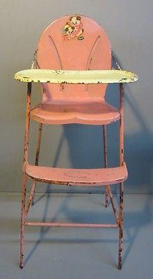 Vintage Pink Amsco Doll High Chair Meubles De Poupee Jouets Anciens Jouets Vintage