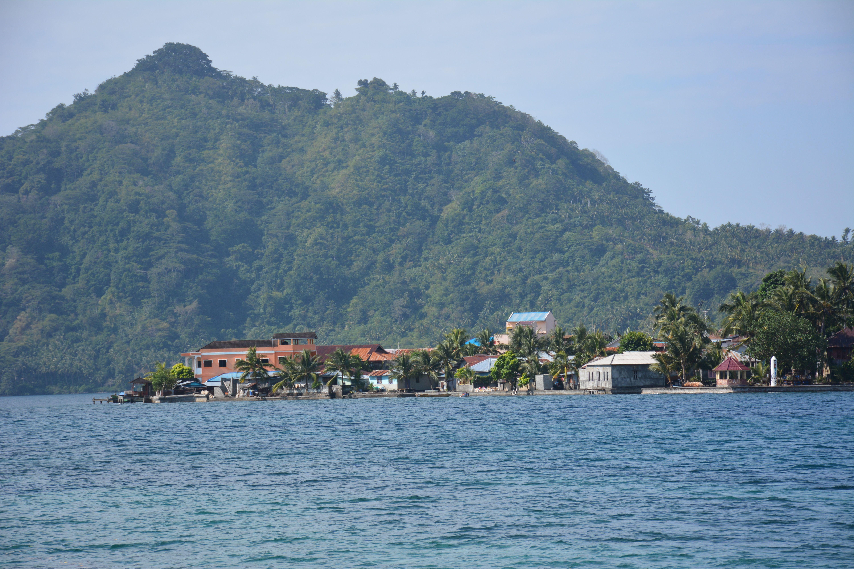 Over The Southern Tip Of Banda Neira Towards Gunung Api Molukken